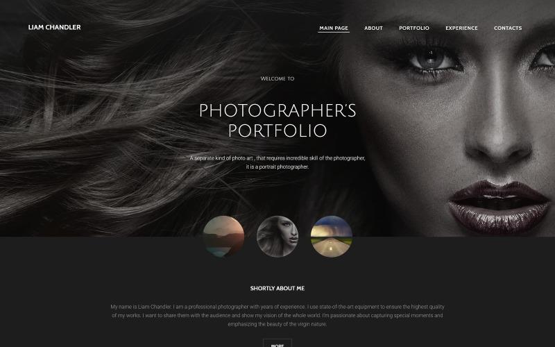Modèle de site Web de portfolio de photographe