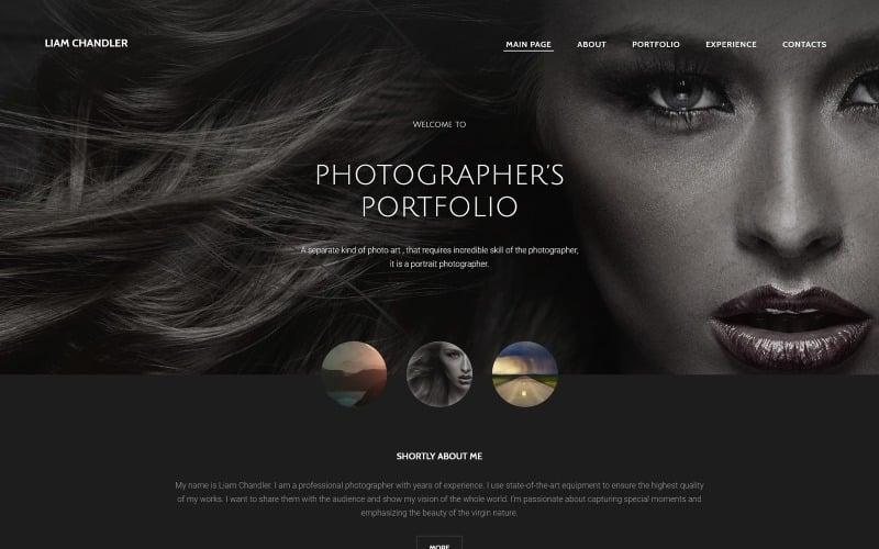 Photographer Portfolio Website Template