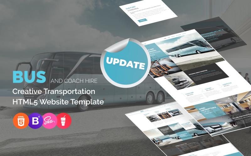 Plantilla para sitio web de alquiler de autobuses y autocares