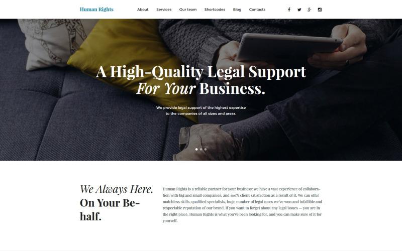Reagovat na téma WordPress pro podnikání a služby