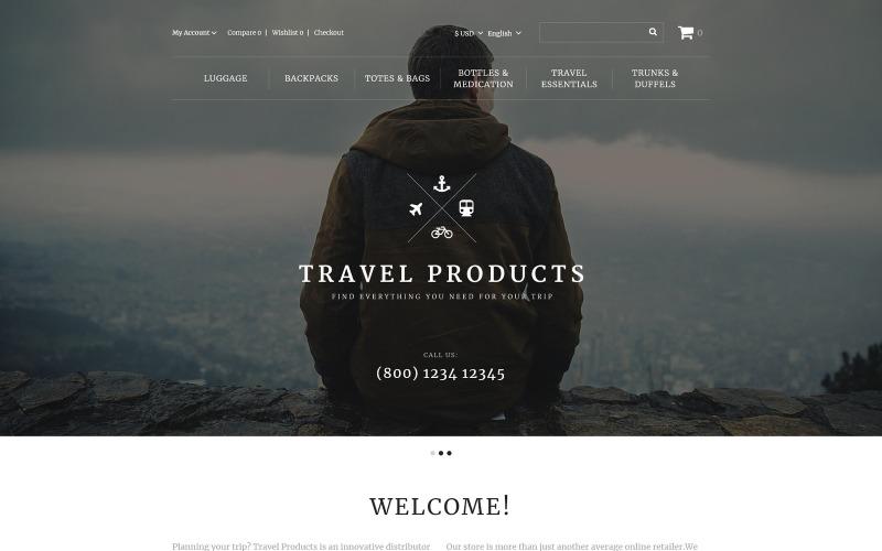 Адаптивный OpenCart шаблон для магазина путешествий