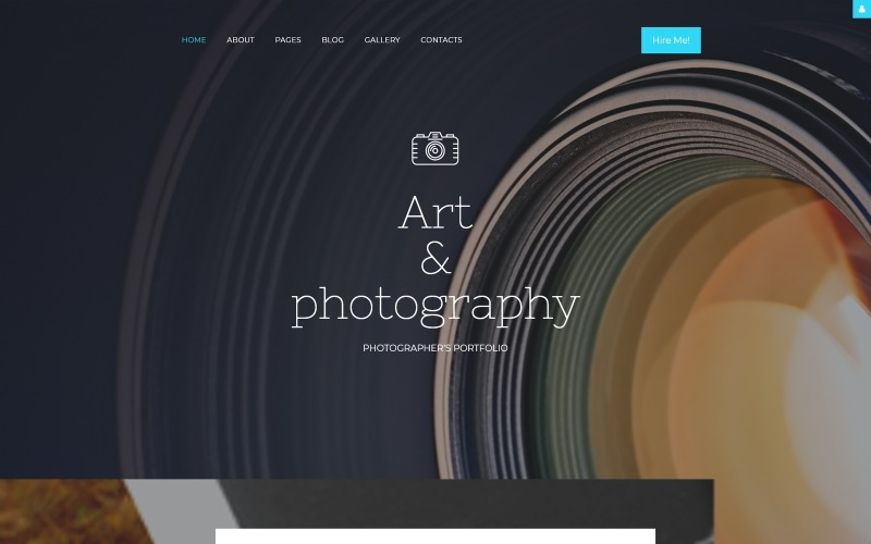 Адаптивный шаблон Joomla для портфолио фотографа