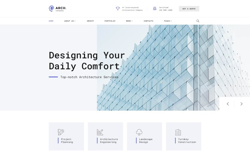 Arch - Architecture Multipage HTML Website Template