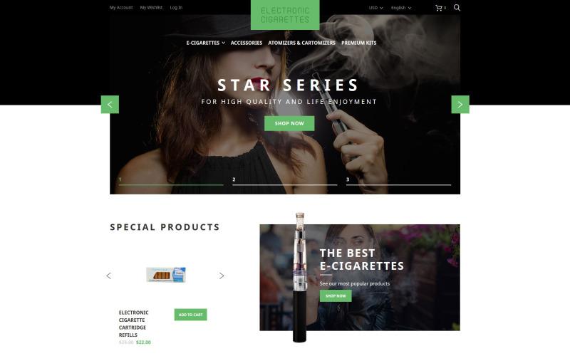 Electronic Cigarettes Magento Theme