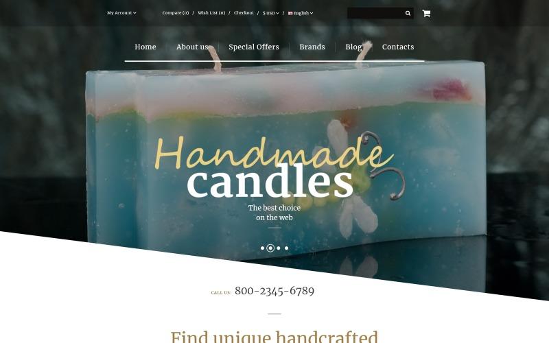 Handgemaakte kaarsen OpenCart-sjabloon