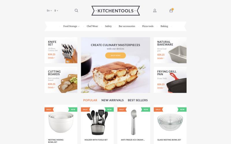 Kitchen Tools PrestaShop Theme
