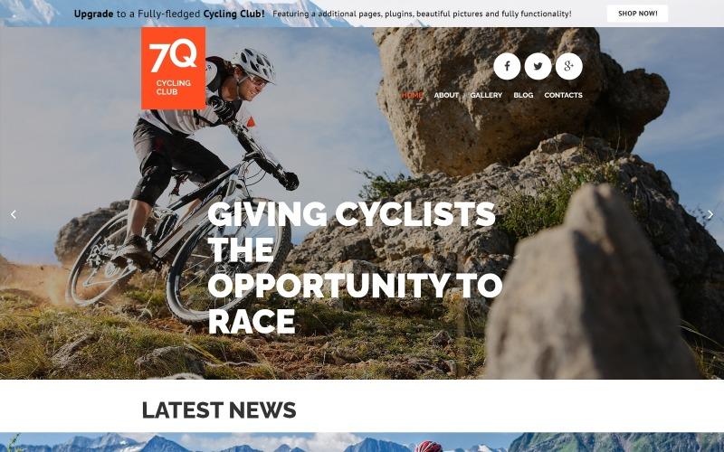 7Q - Plantilla Joomla de tema Joomla creativo libre de ciclismo