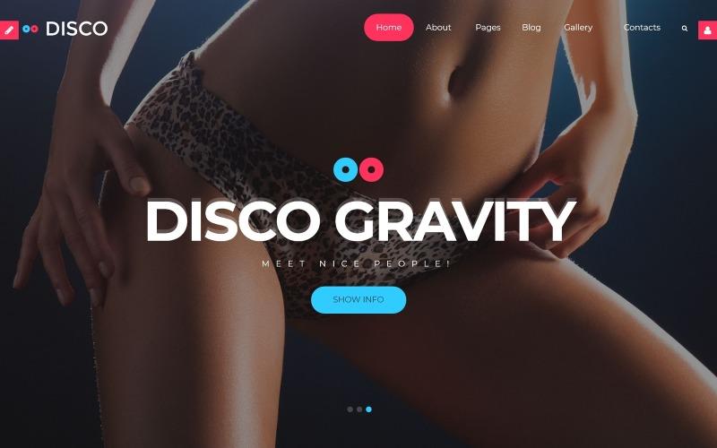 Шаблон Joomla Disco Gravity