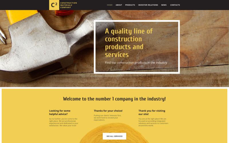Шаблон сайта компании строительных материалов