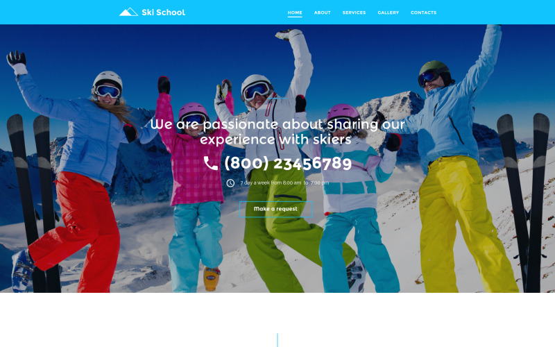 Ski School Website Template