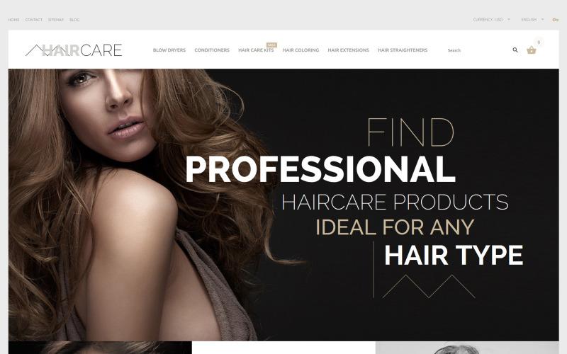Tema de PrestaShop para el cuidado del cabello