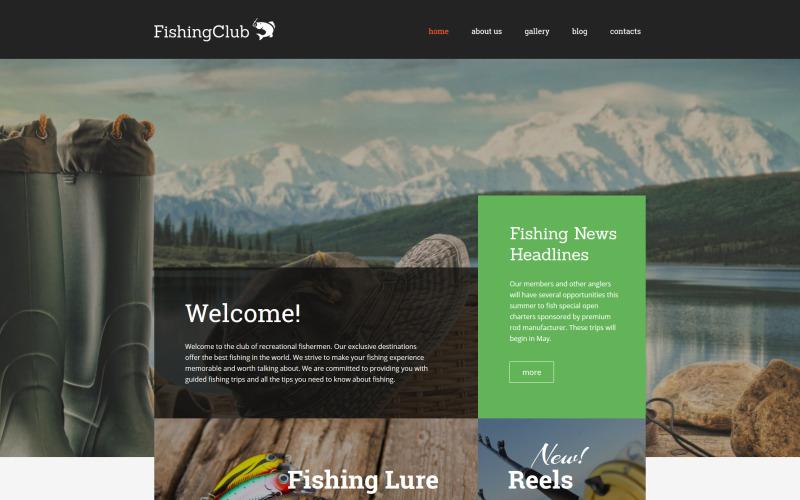 Тема WordPress для рыболовного клуба