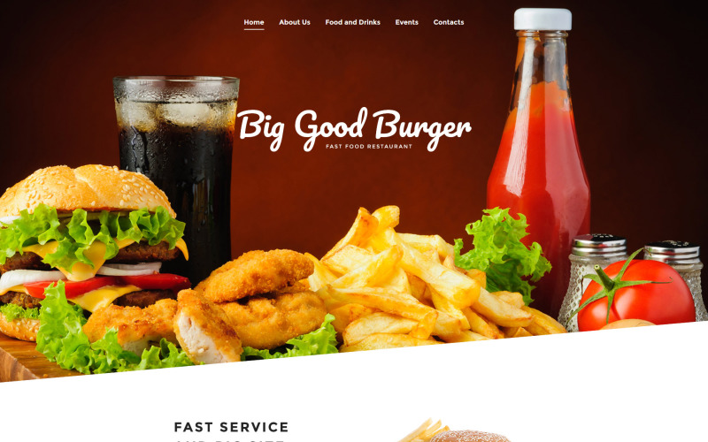 Big Good Burger - Fast Food Website Template