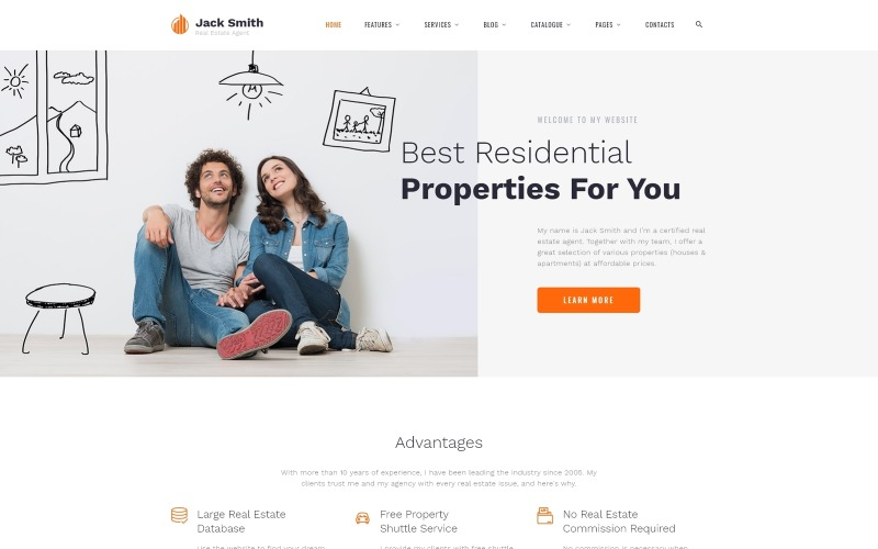 Jack Smith - Real Estate Multipage Clean HTML Website Template