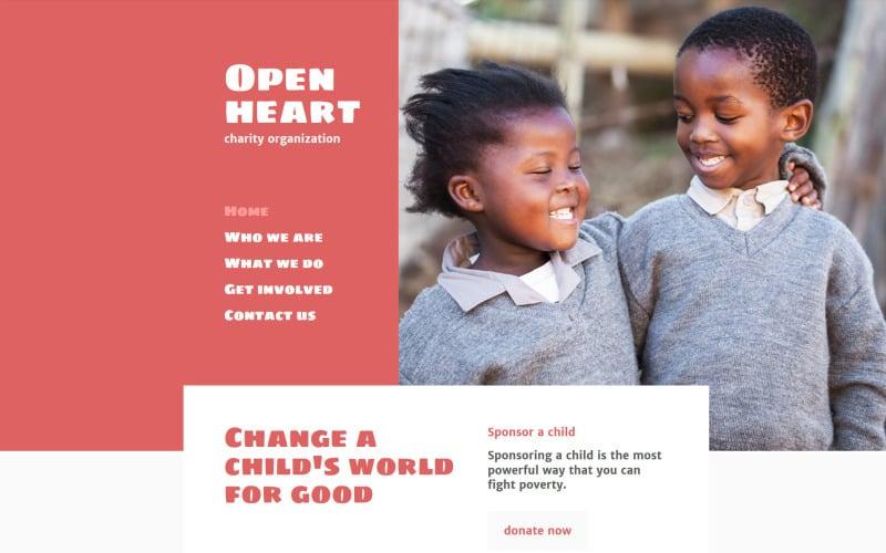 Open Heart Website Template
