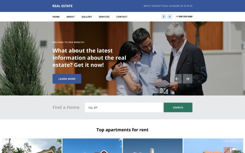 Plantilla web para sitio web de agencia inmobiliaria
