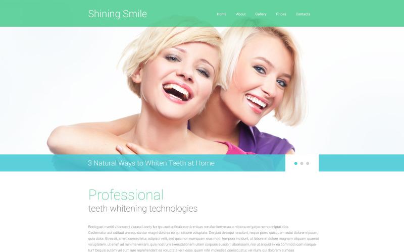 Šablona webových stránek Responzivní stomatologie