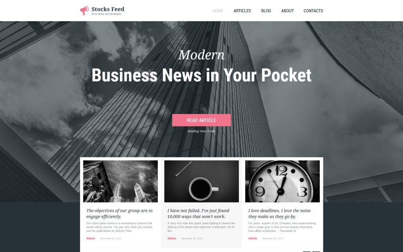 Üzlet és szolgáltatások adaptív WordPress téma