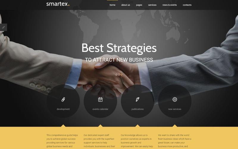 Адаптивний шаблон для бізнесу та послуг Joomla