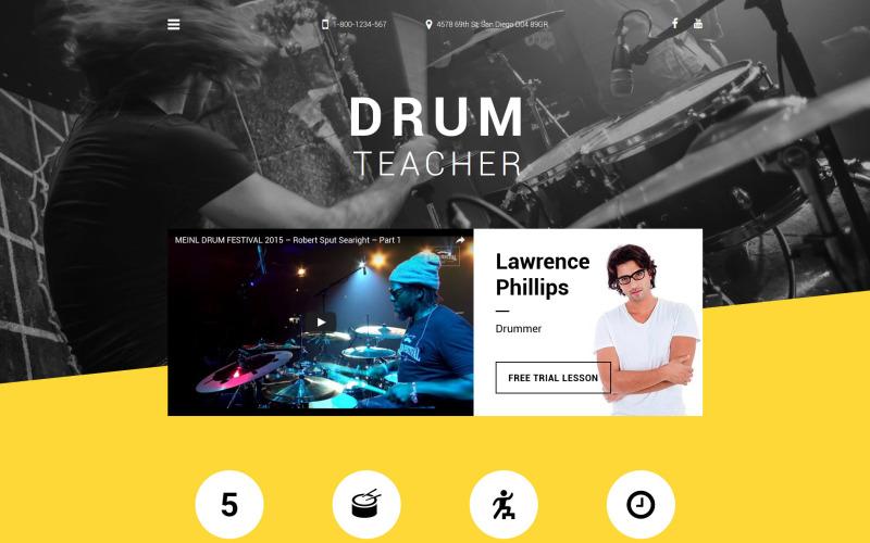Drum Teacher Website Template