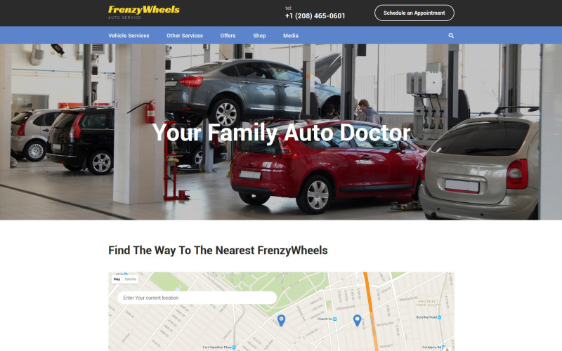 Frenzy Wheels Website Template