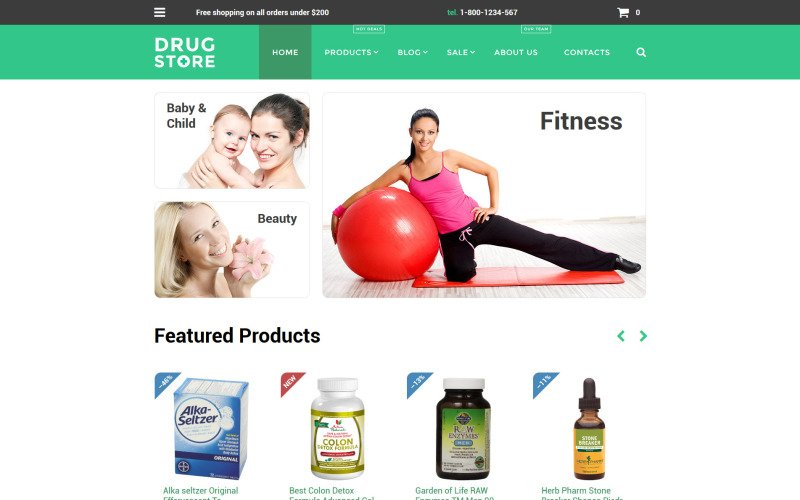 Health Care Drug store Shopify Theme