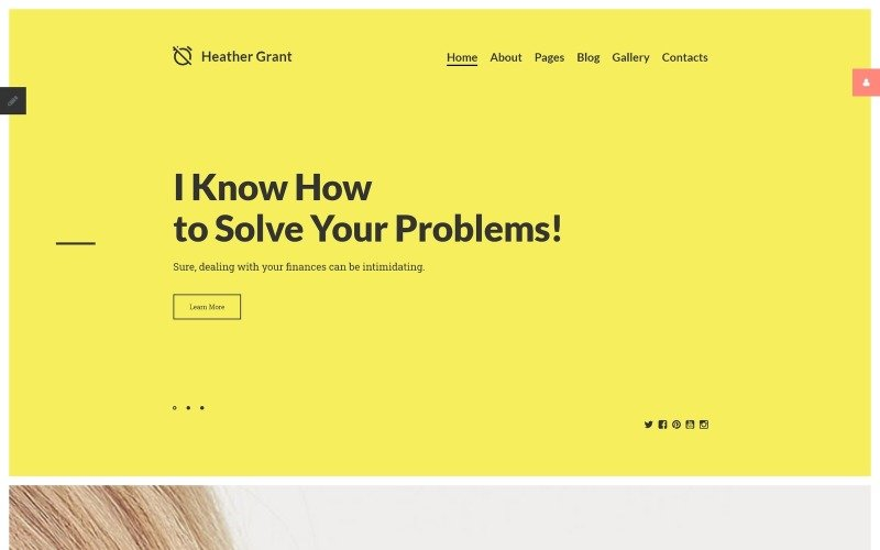 Heather Grant - Financial Advisor Joomla Template
