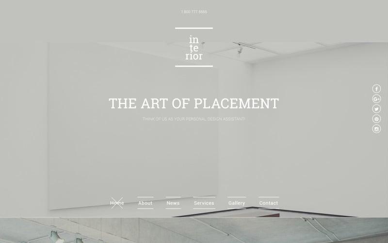 Interior & Furniture Responsive Website Template