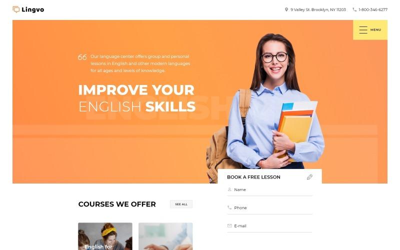 Lingvo - Sprachschule Mehrseitige einfache HTML5-Bootstrap-Website-Vorlage