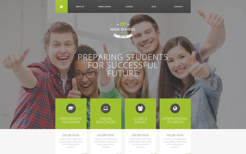 Plantilla de Drupal adaptable a la educación