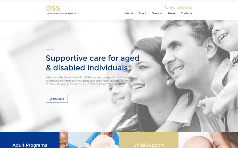 Адаптивный шаблон сайта Social Foundation
