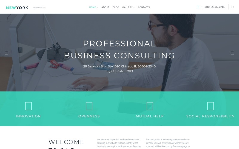 Business Services Responsive Wordpress Theme 58090