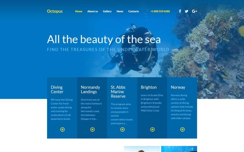 Diving Responsive Website Template