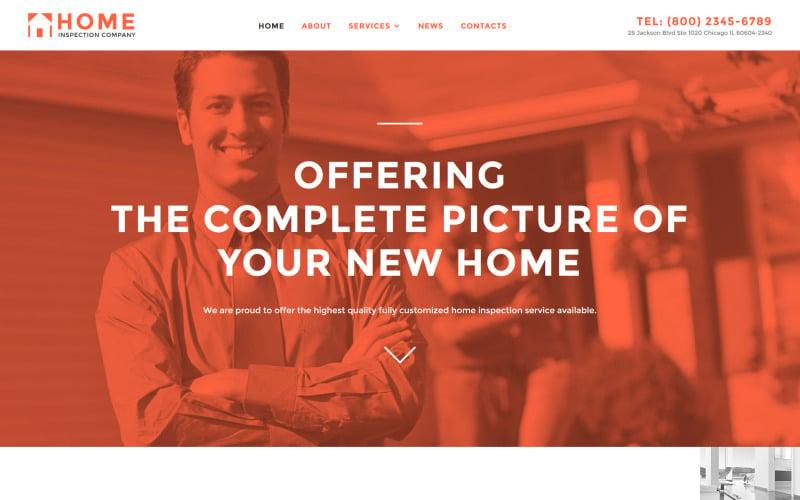 Home Inspector Responsive Website Template