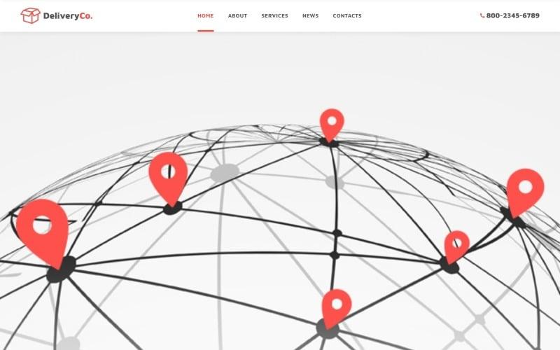 International Delivery Website Template