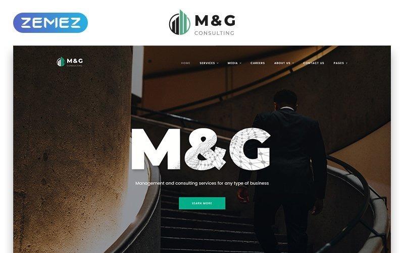 M&G - Consulting HTML5 webbplatsmall för flera sidor