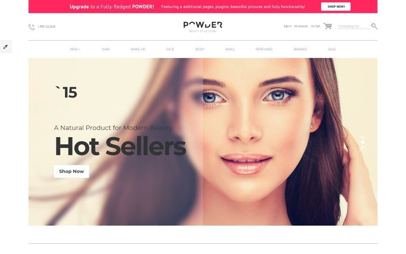 Powder - Cosmetics Store Modern Free OpenCart Template
