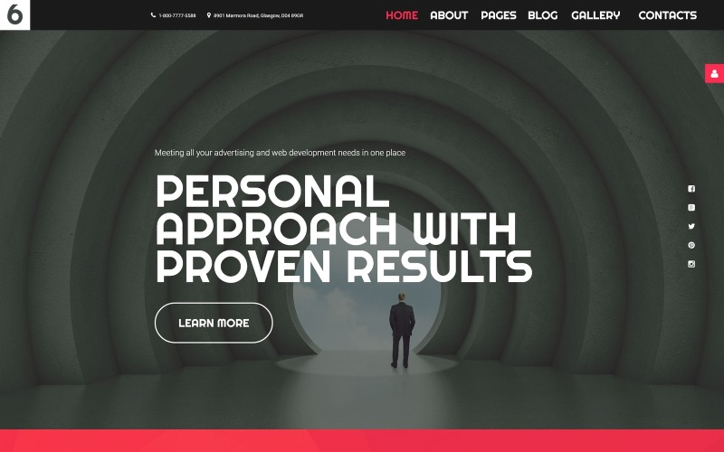 Шаблон рекламного агентства Joomla