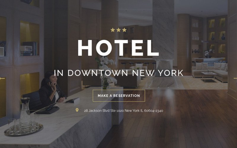 HOTEL - Travel Stylish HTML Landing Page Template
