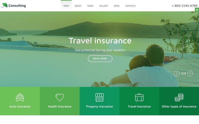 InsuranceCo - Consulting & Finance Joomla Template