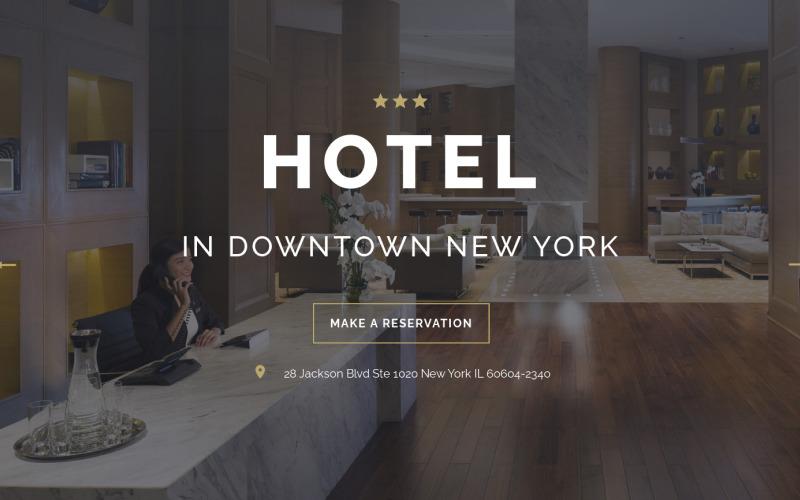酒店-旅行时尚的HTML着陆页模板