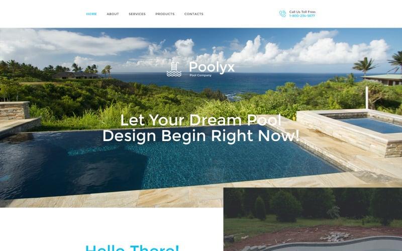 Poolix Website Template