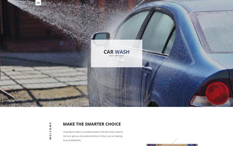 Responzivní webová šablona pro mytí aut