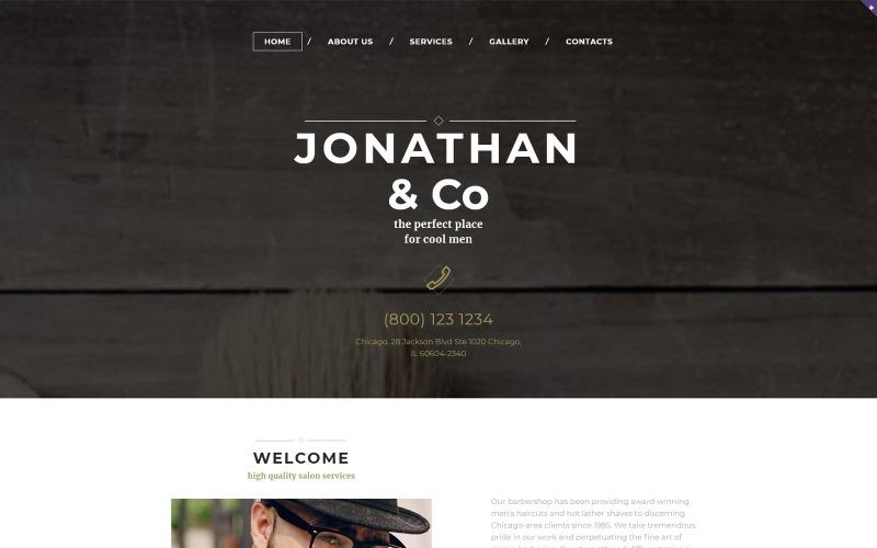 Шаблон адаптивного веб-сайту для перукарні