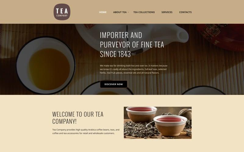 Tea Company Website Template