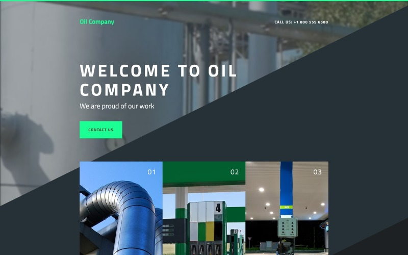 Gas & Oil Responsive Landing Page Template