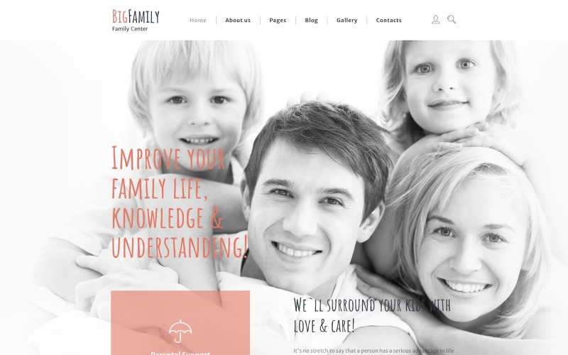 Große Familie Joomla Vorlage