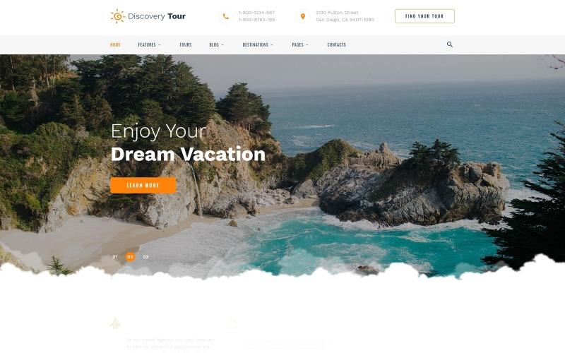 Keşif Turu - Seyahat Çok Sayfalı Temiz HTML Web Sitesi Şablonu