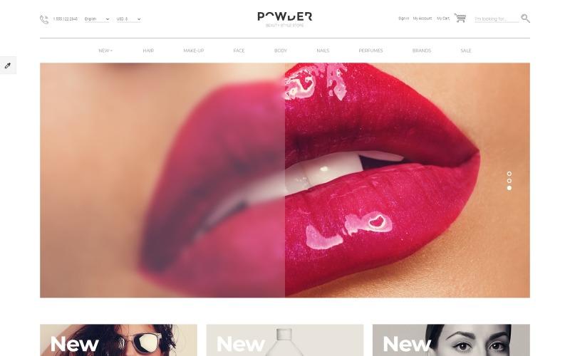 Plantilla OpenCart receptiva para tienda de cosméticos