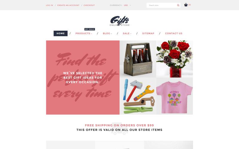 Prezenty w sklepie internetowym Motyw Shopify
